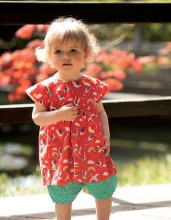 Frugi Skateboarding Cranes Waterfall Woven Outfit